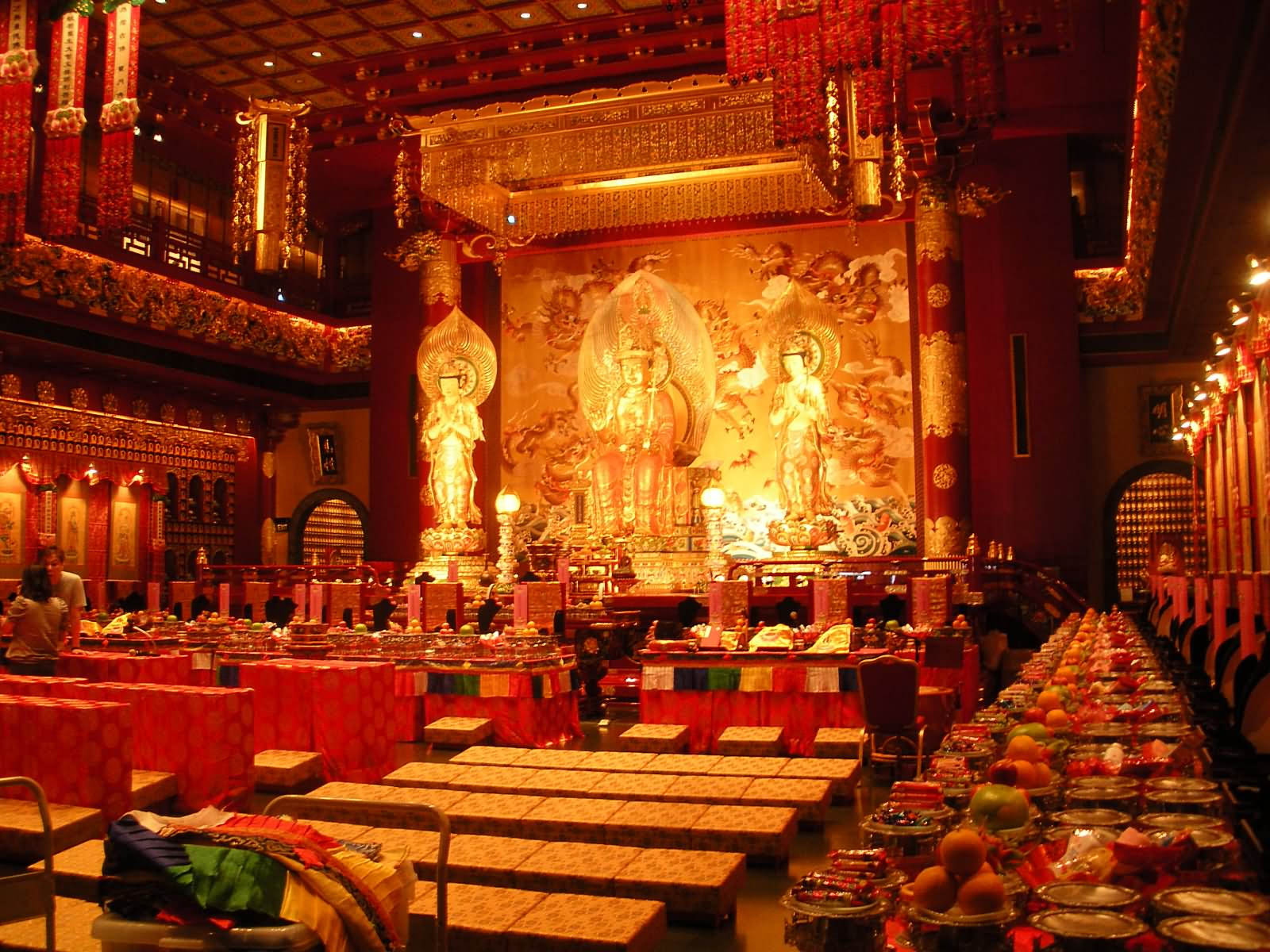 Buddha Tooth Relic Temple Inside View