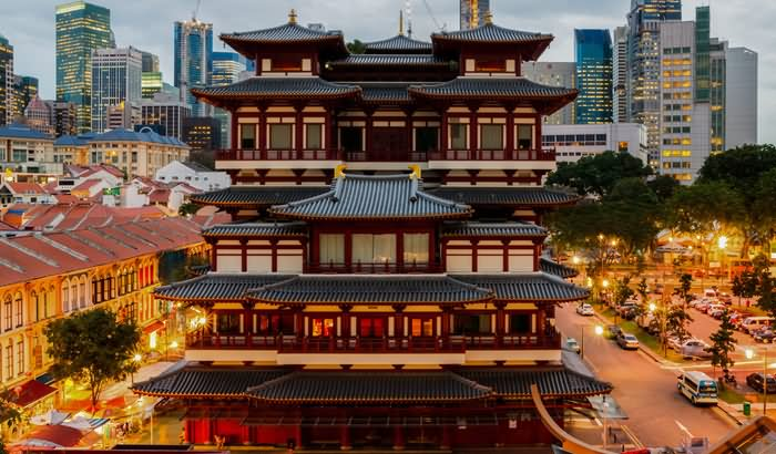 Buddha Tooth Relic Temple, Singapore Front View