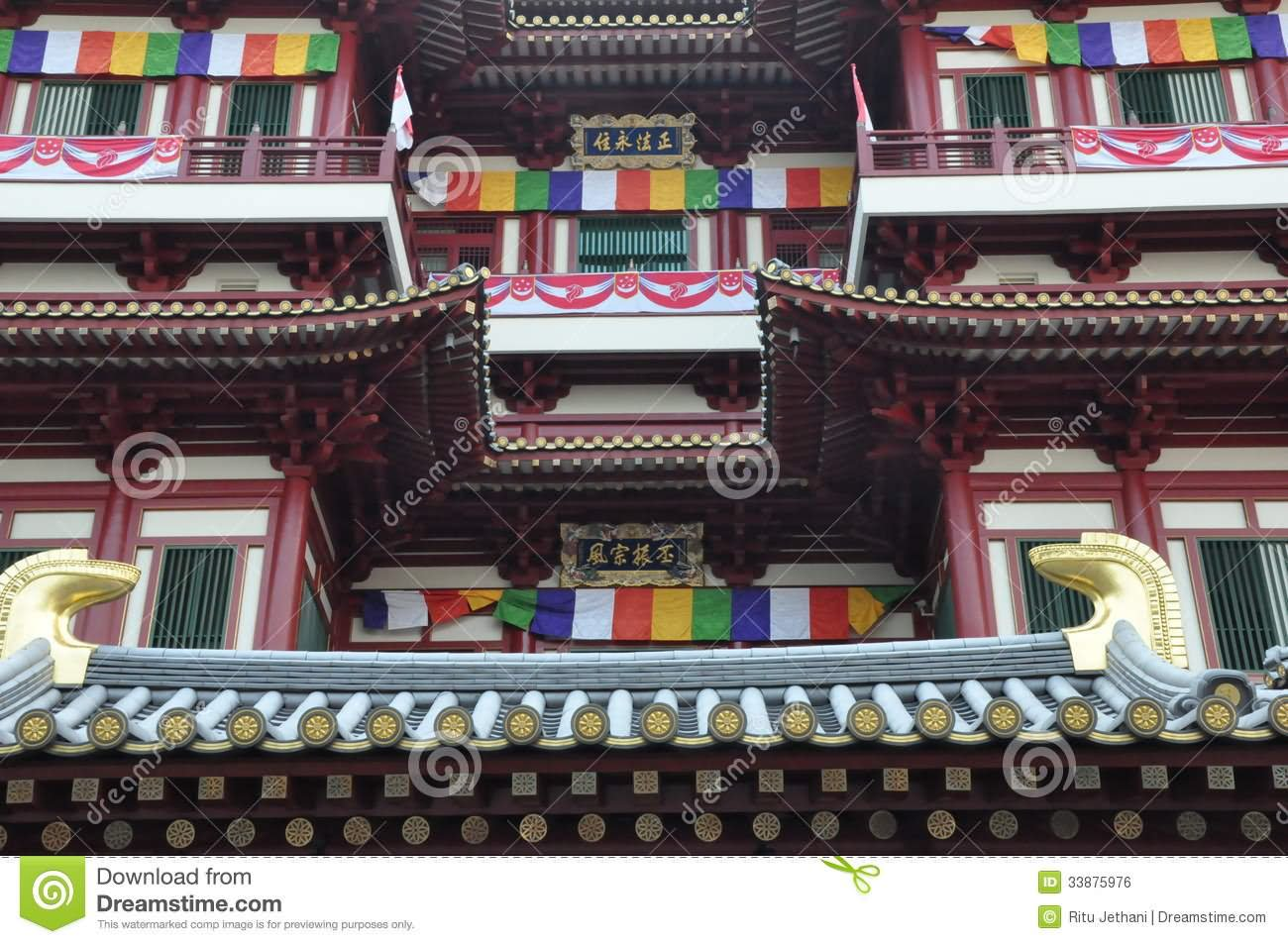 Closeup Of Buddha Tooth Relic Temple