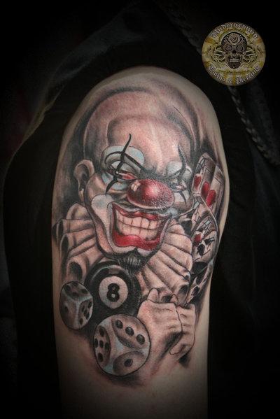 8 gambling tattoos on shoulder for Arm mural tattoos