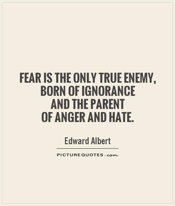 Love And Anger Quotes: Fear Is The Path To The Dark Side. Fear Leads To Anger