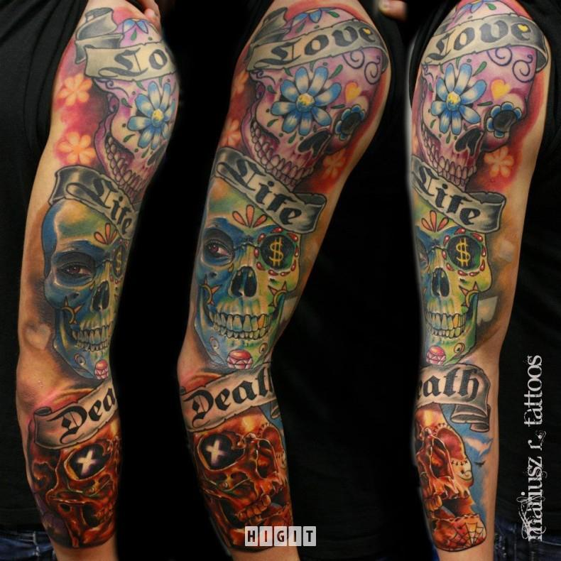 Mexican Tattoos Designs Ideas And Meaning: 15+ Mexican Sleeve Tattoos