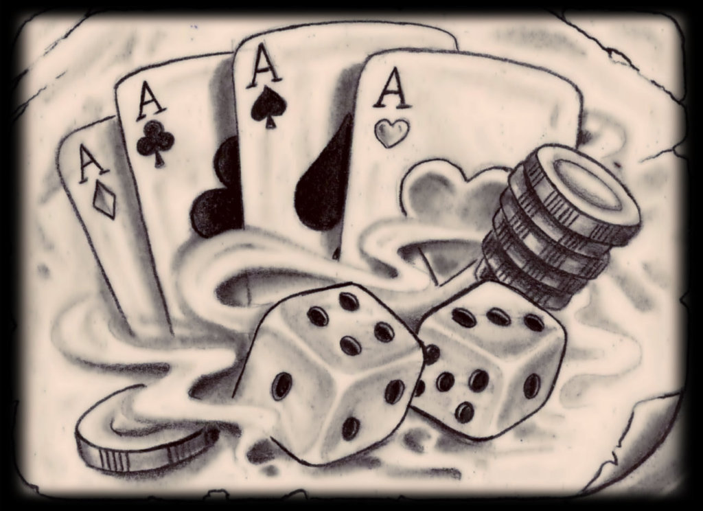 20 latest gambling tattoo designs for Card tattoo designs