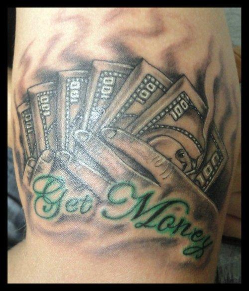 28 gambling money tattoos