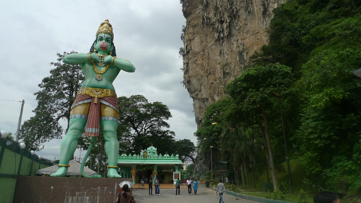 Hanuman Statue At Batu Caves, Malasyia