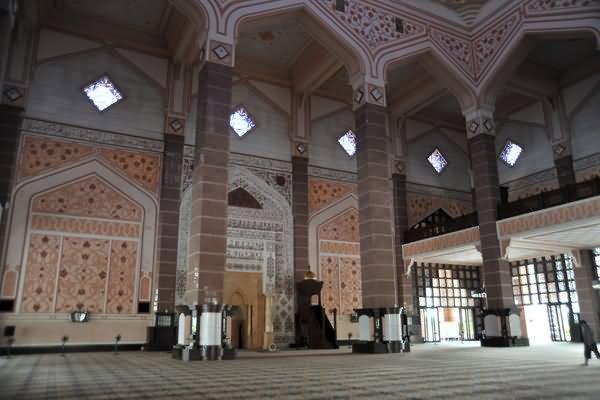 Interior Of The Prayer Hall Putra Mosque