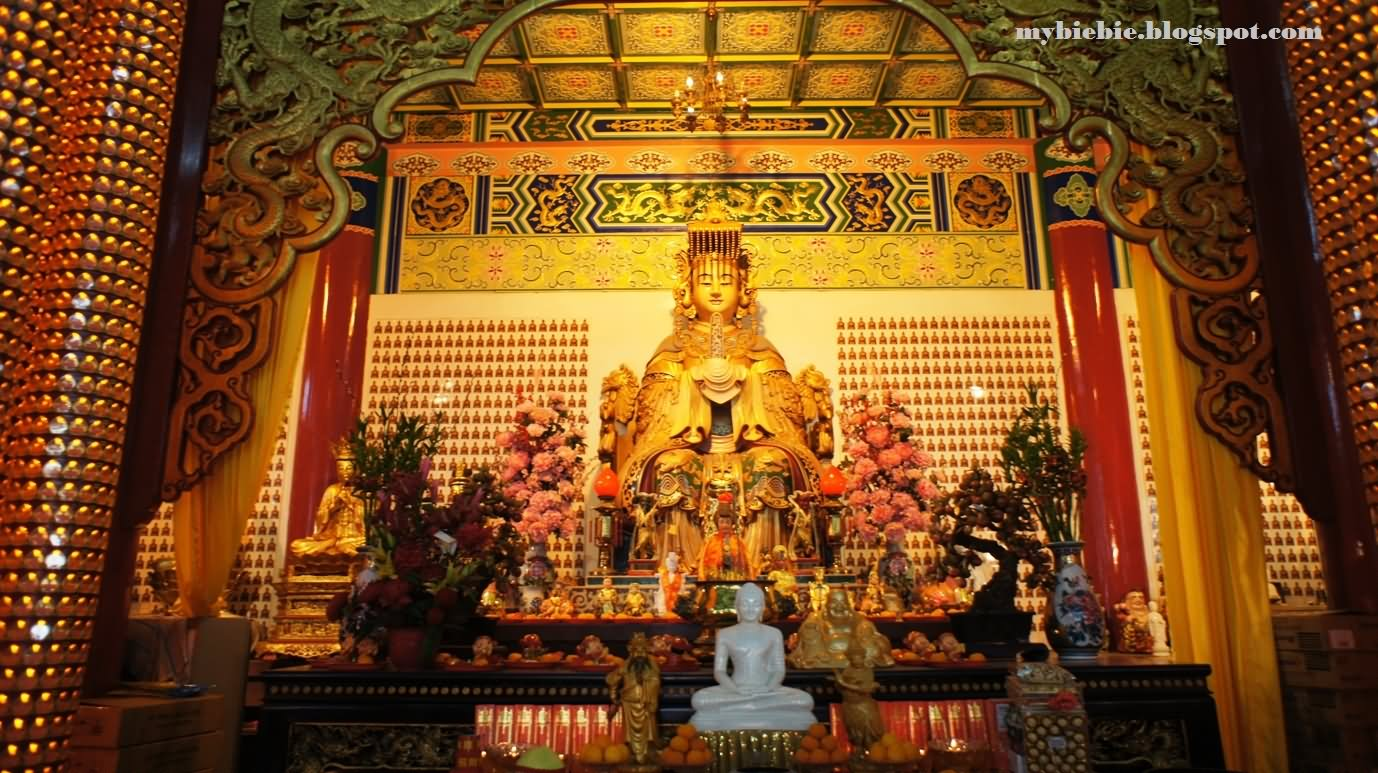Lord Buddha Inside Thean Hou Temple