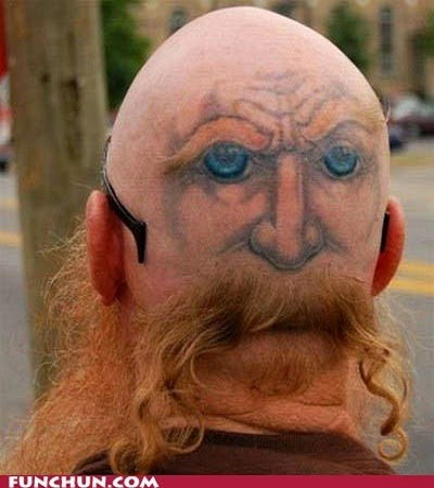 Man With Mustaches Face Haircut Funny Picture For Whatsapp