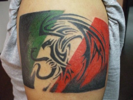 30 latest tribal mexican tattoos for Patriotic tribal tattoos