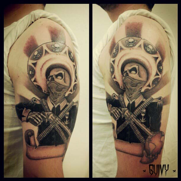 25 beautiful mexican tattoos on half sleeve for Mexican gang tattoos