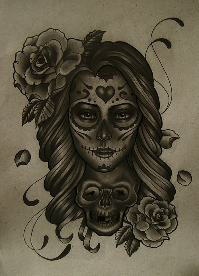 21 awesome mexican tattoo designs for Girl head tattoo