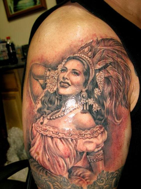25 beautiful mexican tattoos on half sleeve for Mexican girl tattoos