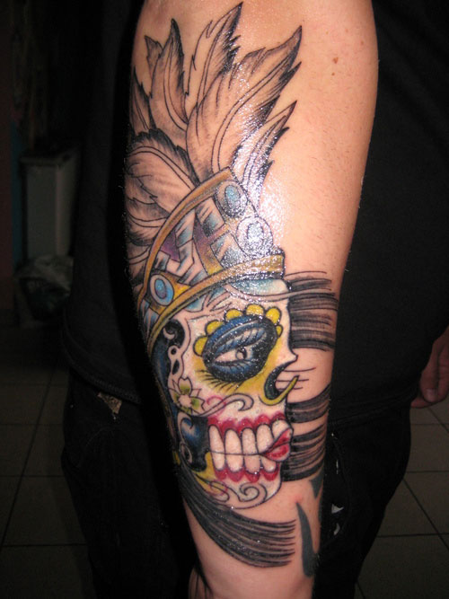 15 mexican sleeve tattoos for Mexican style tattoos