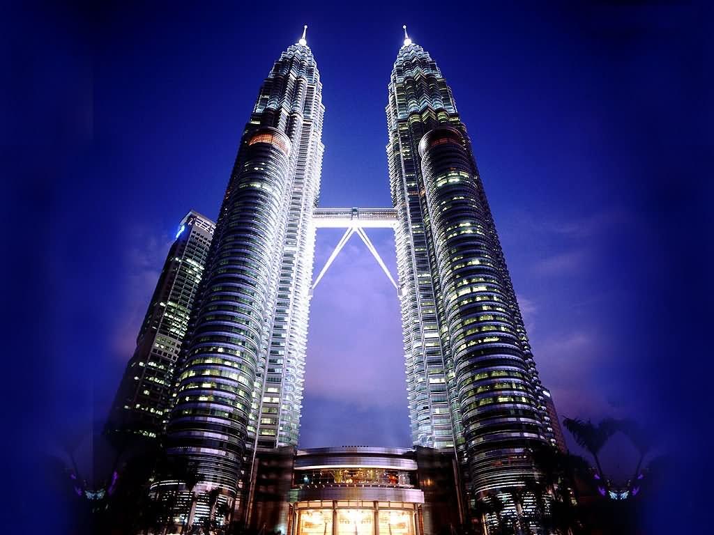 Night View Of Petronas Towers, Kuala Lumpur