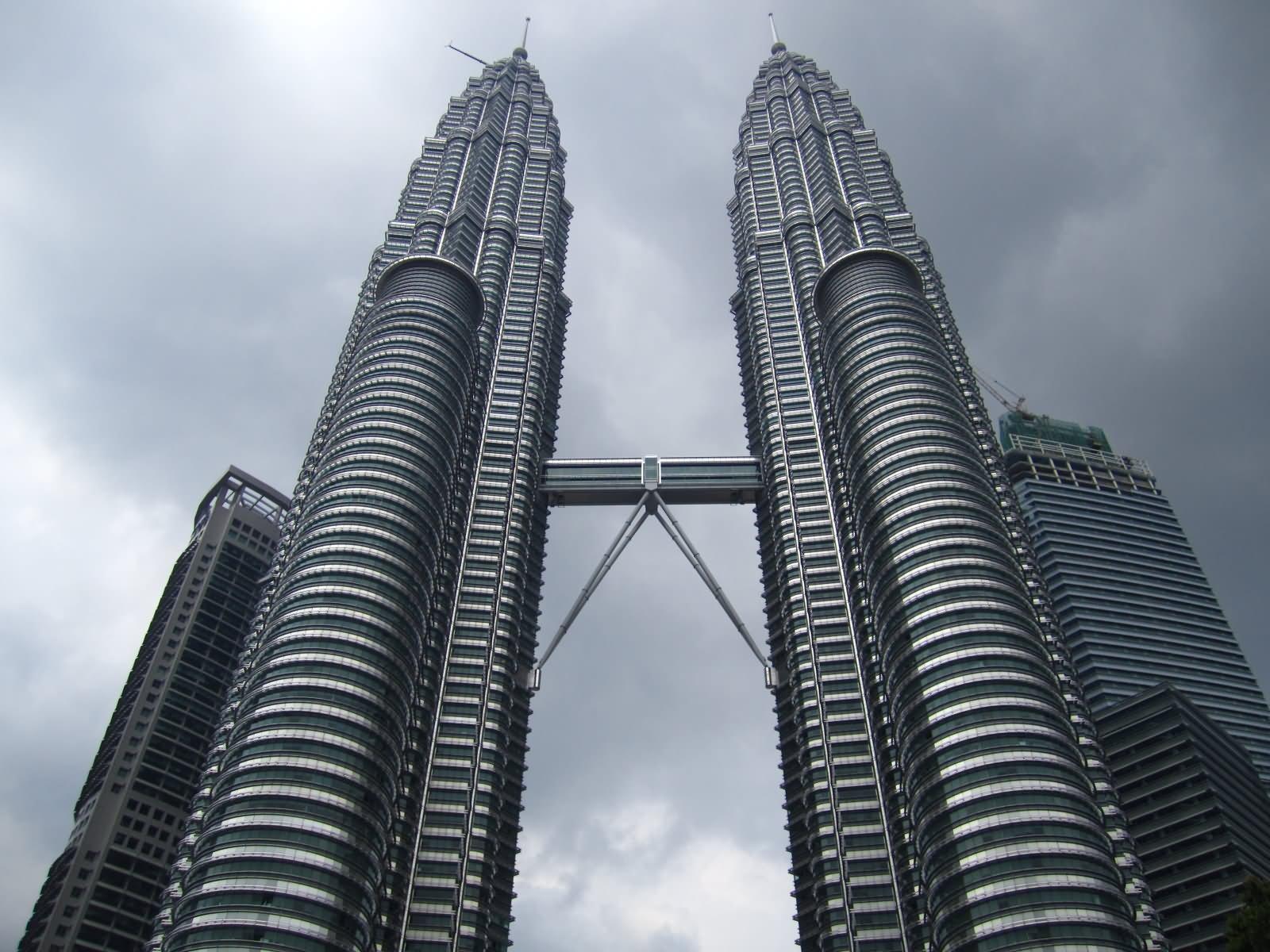 Petronas Twin Towers Closeup View