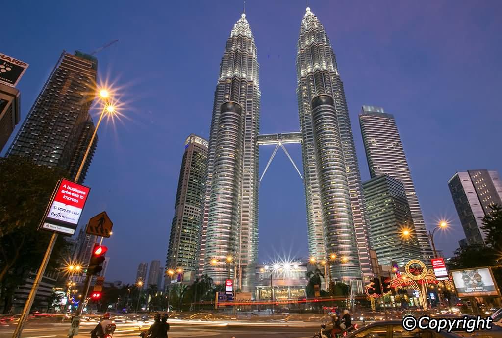 Petronas Twin Towers, Kuala Lumpur Evening View