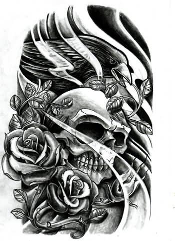 27 Gambling Skull Tattoos