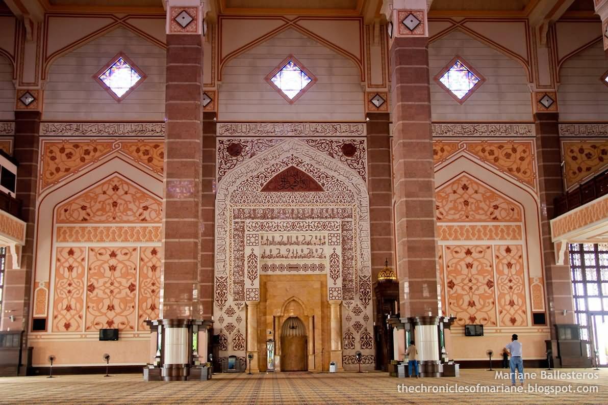The Main Prayer Hall Inside Putra Mosque