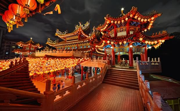 Thean Hou Temple At Night