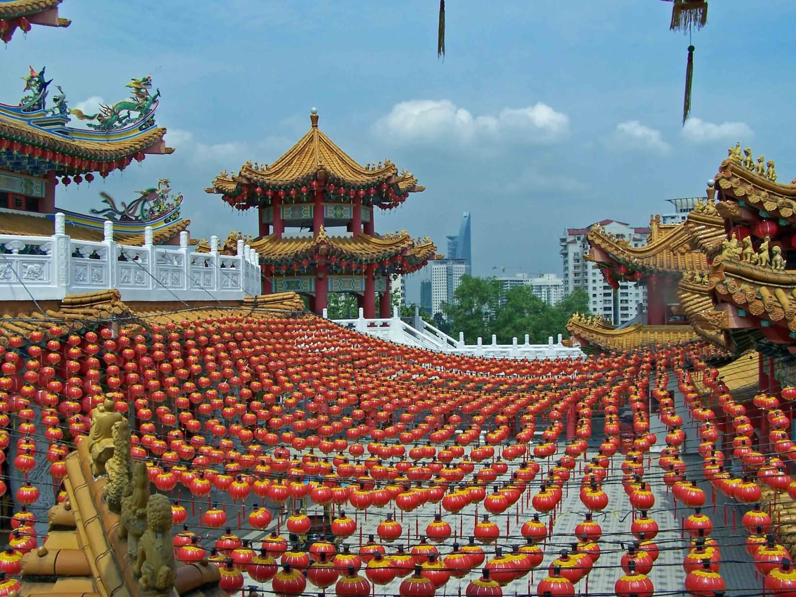 Thean Hou Temple Extravagant Colorful Image