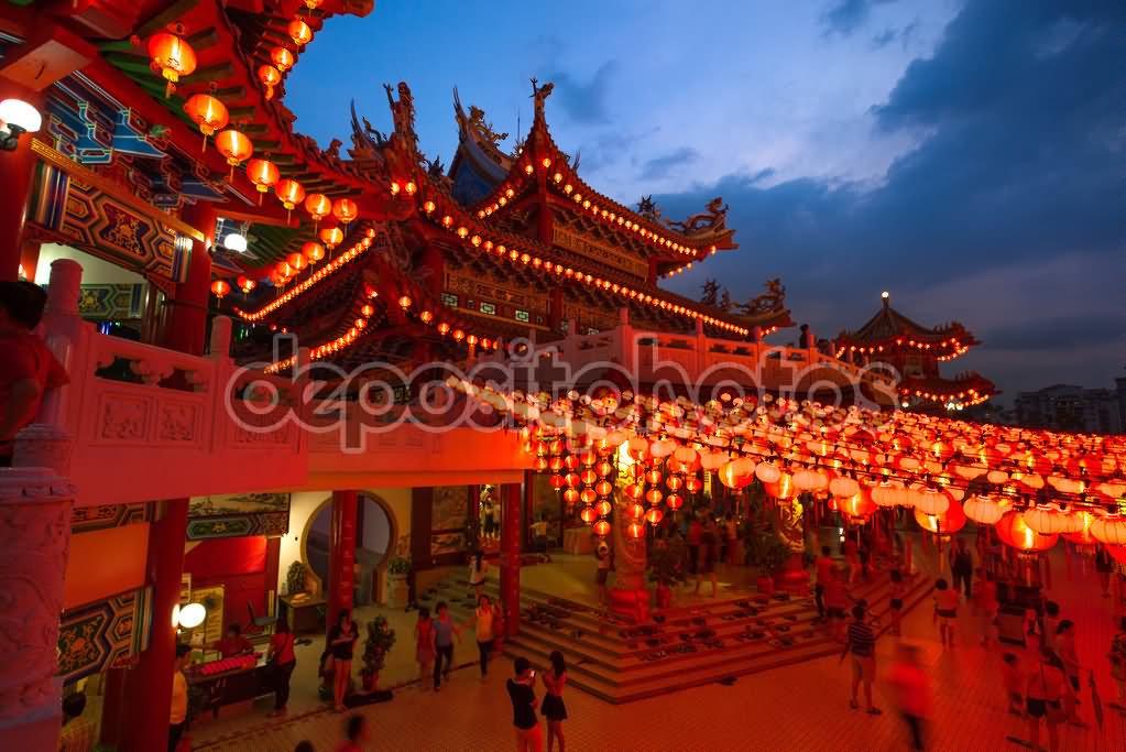 Thean Hou Temple, Kuala Lumpur At Night