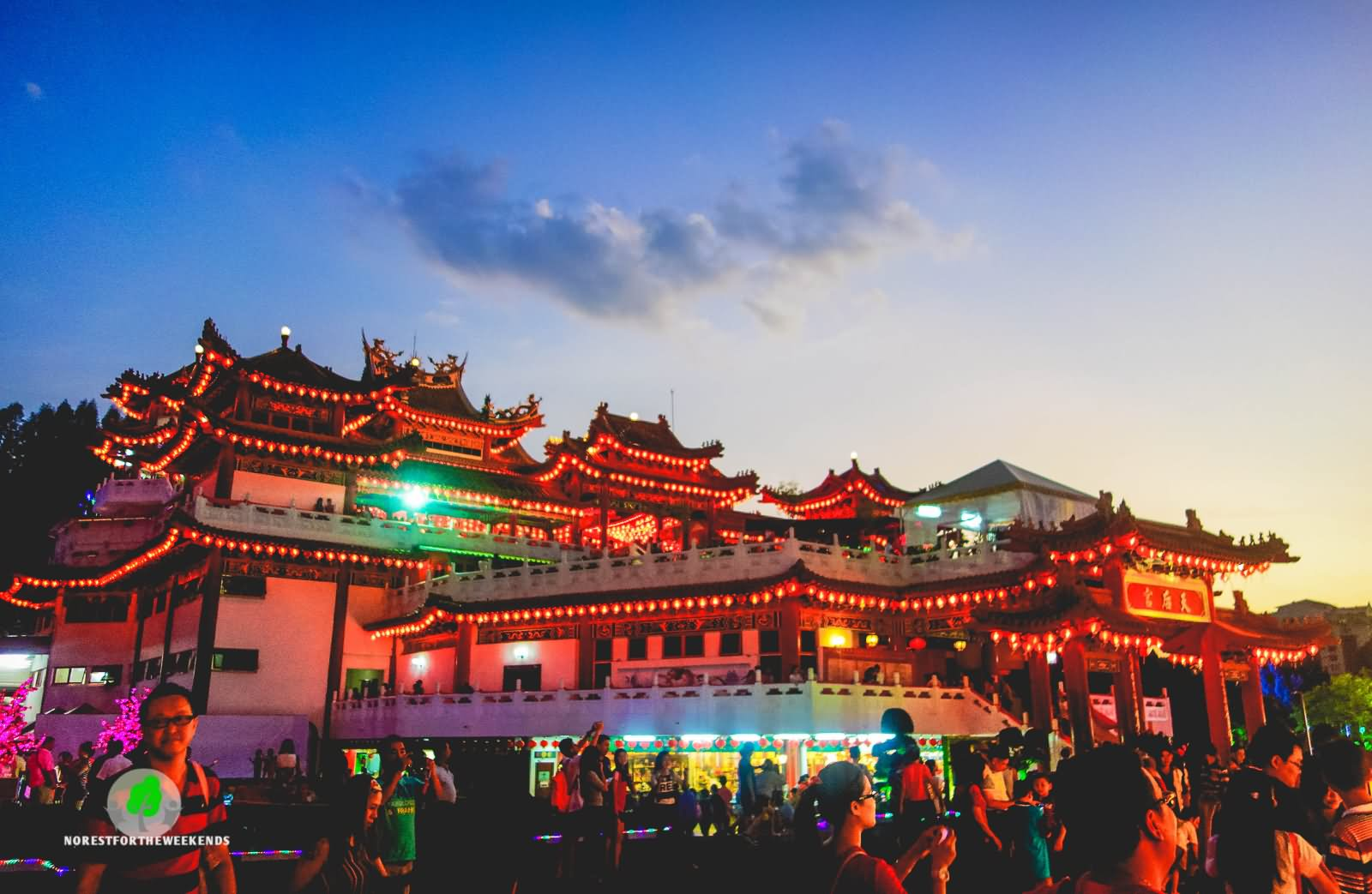 Thean Hou Temple Night View