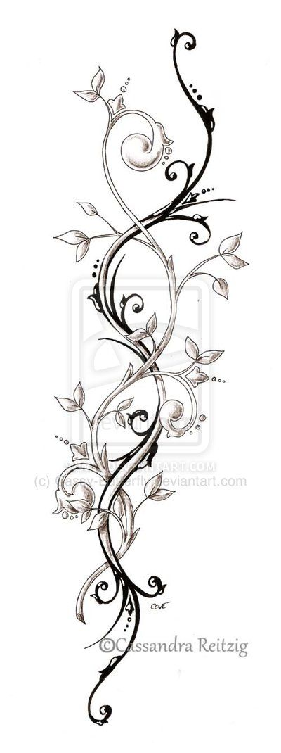 24 awesome vine tattoo designs rh askideas com vine tattoo designs on foot butterfly vine tattoo designs