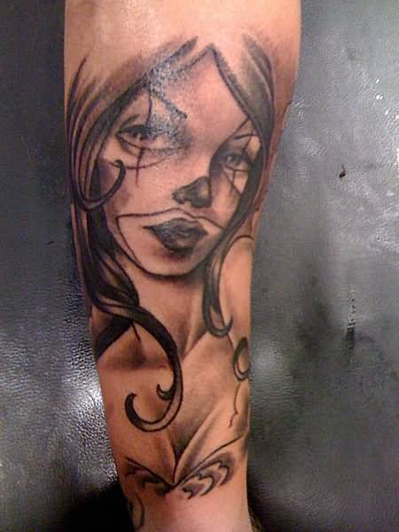 19+ Gangster Clown Girl Tattoo Images And Designs