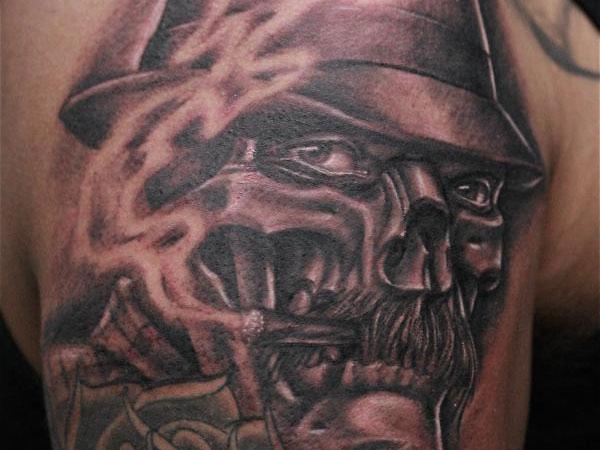 36+ Latest Gangster Skull Tattoos