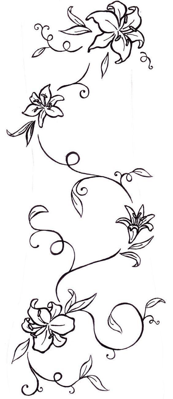 flower vine stencil
