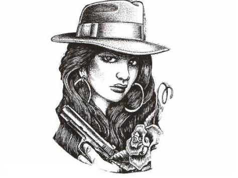 Gangsta Drawings With Guns 19+ Gangster Cl...