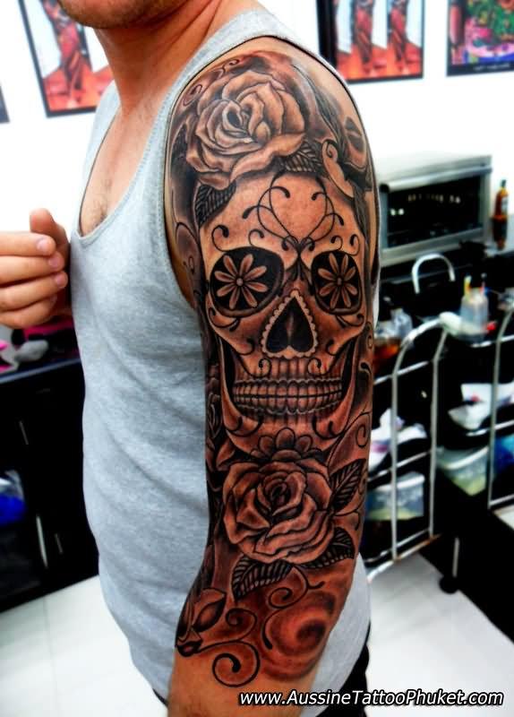 43 Mexican Gangster Skull Tattoos