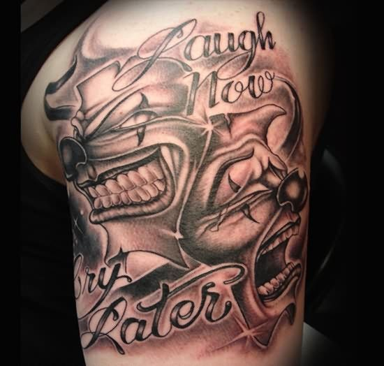 Tattoo Quotes Gangster: 13+ Gangster Tattoos On Shoulder