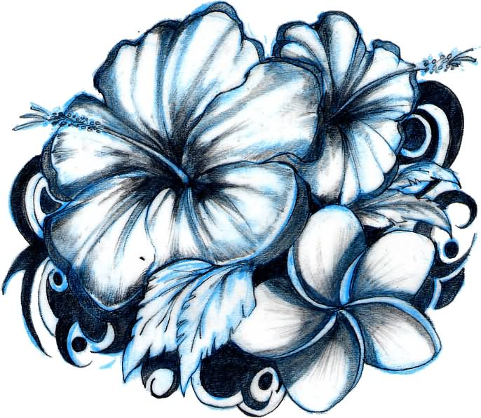 Gallery For gt Hawaiian Flower Tattoo Outline