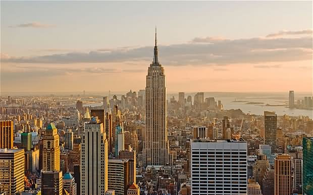 Aerial View Of Empire State Building Midtown Manhattan, Central ...