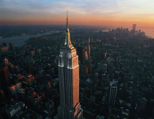 New York City Manhattan Skyline Aerial View With Empire State ...