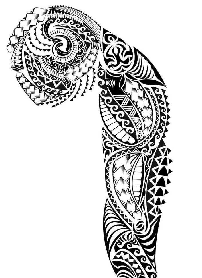 30 hawaiian pattern tattoos for Designing a tattoo sleeve template