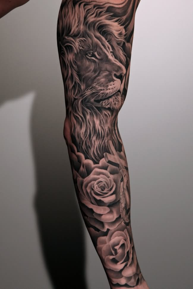 18 Amazing Leo Sleeve Tattoos