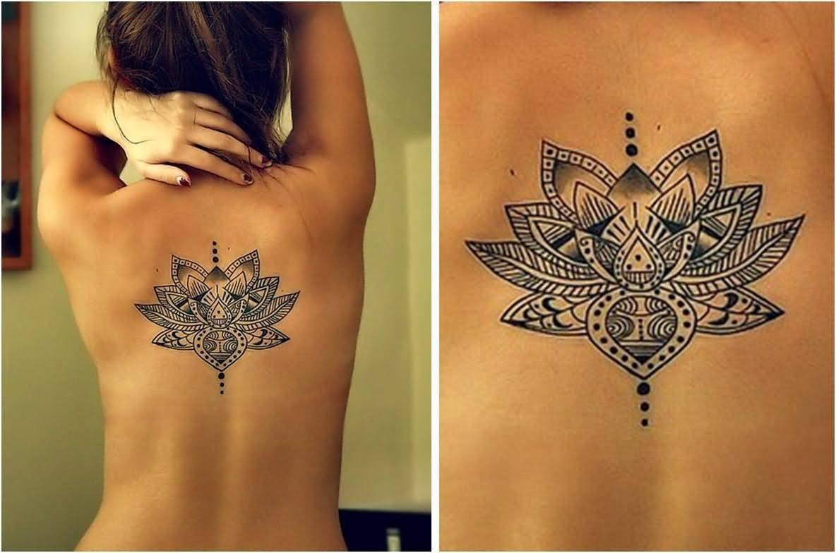 24 hippie flower tattoos black hippie lotus flower tattoo on girl upper back izmirmasajfo