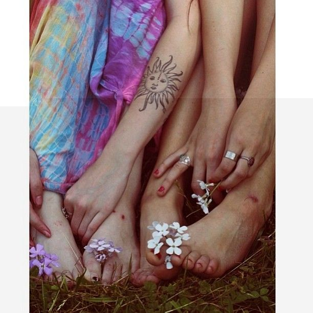 12+ Hippie Sun Tattoo Designs