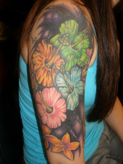 36 Beautiful Hawaiian Flower Tattoos