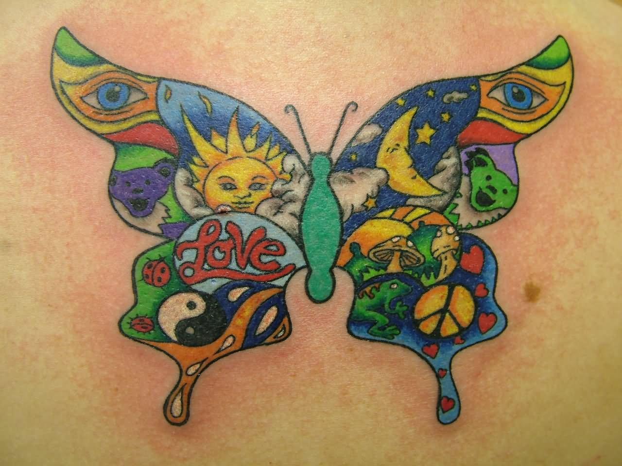 20 hippie tattoos designs. Black Bedroom Furniture Sets. Home Design Ideas