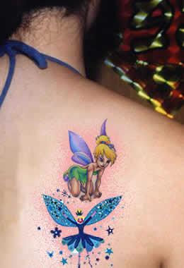 10 tinkerbell tattoos on back shoulder. Black Bedroom Furniture Sets. Home Design Ideas