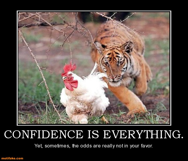 Confidence Is Everything Funny Chicken Meme Picture For ...