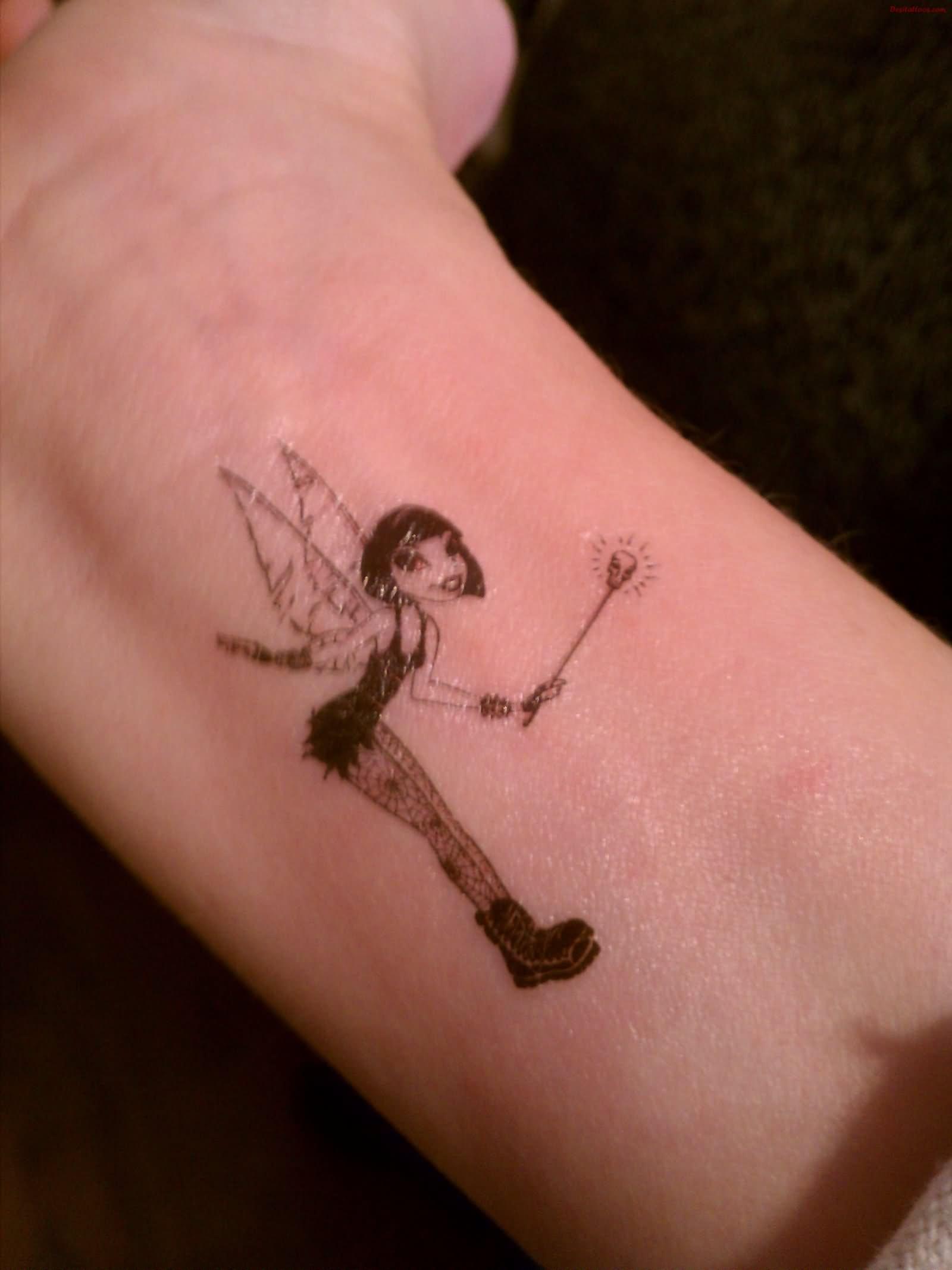 12 tinkerbell tattoos for wrist. Black Bedroom Furniture Sets. Home Design Ideas