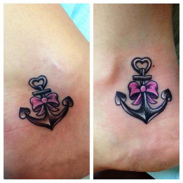 43+ Cute Friendship Anchor Tattoos