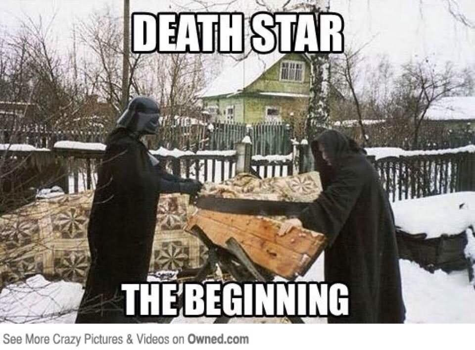 Death Star The Beginning Funny War Meme Image