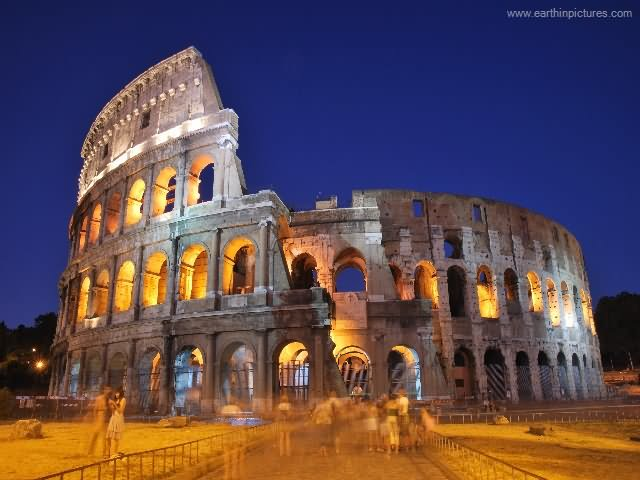 30 Most Amazing Night View Of The Colosseum, Rome Pictures