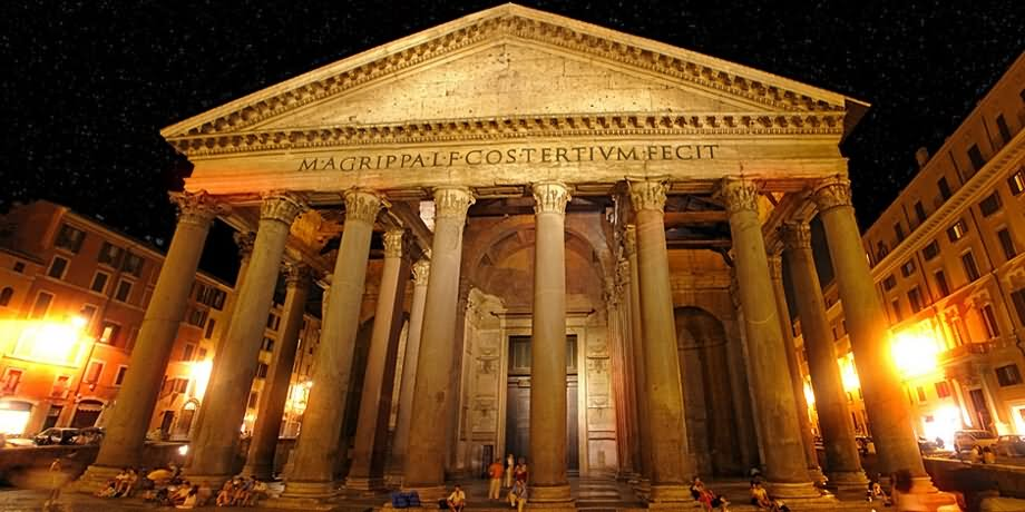 30 Beautiful Night Pictures Of Pantheon, Rome