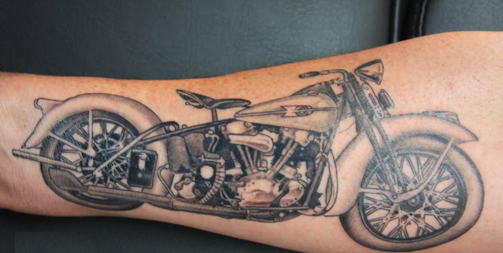 7 motorcycle tattoos for leg. Black Bedroom Furniture Sets. Home Design Ideas